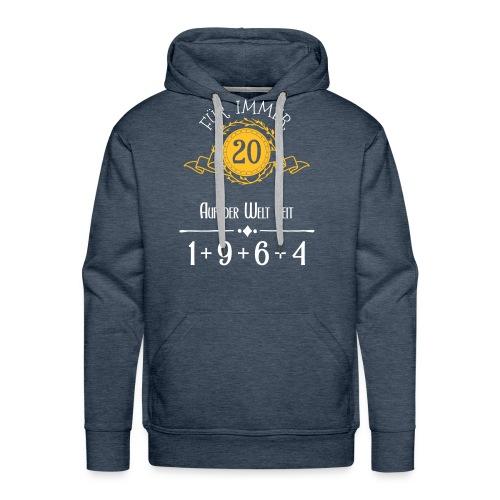 Für immer jung! Jahrgang 1+9+6+4 = 20 Jahre - Männer Premium Hoodie