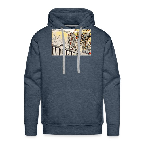 perroquet cacatoes - Sweat-shirt à capuche Premium pour hommes
