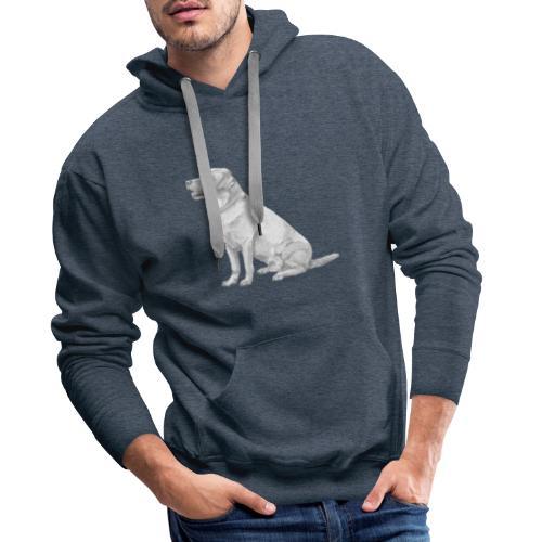 labrador Retriever Gul - Herre Premium hættetrøje