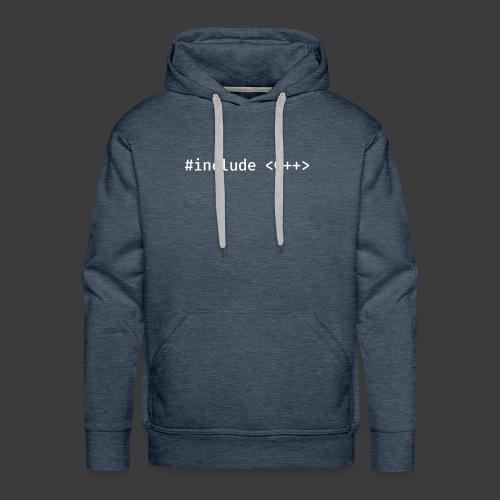 White Include Logo - Men's Premium Hoodie