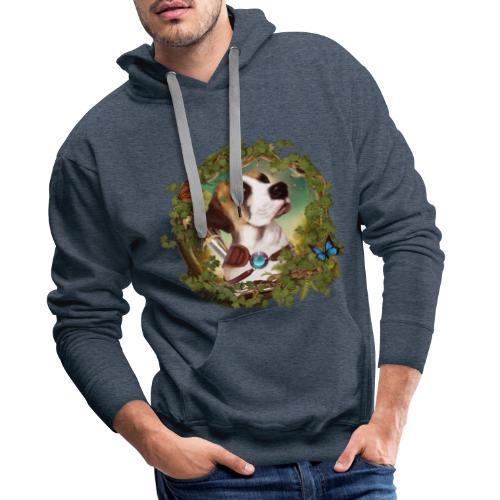 Fantasy Dog - Felpa con cappuccio premium da uomo