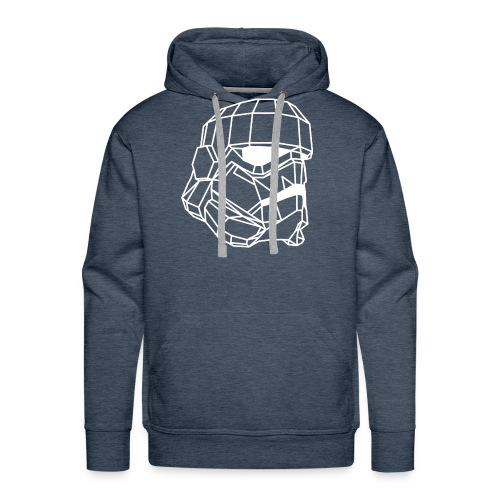 Male Stormtrooper Premium Geometrical sweater - Men's Premium Hoodie