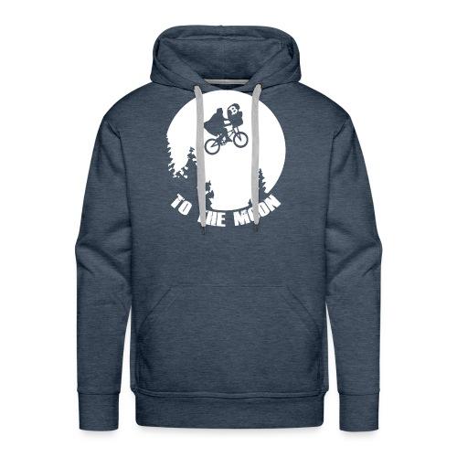 to the moon,bitcoin - Mannen Premium hoodie