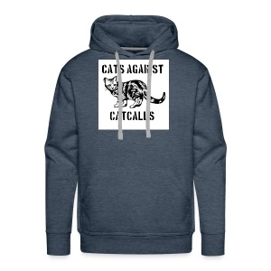 Cats against catcalls - Men's Premium Hoodie