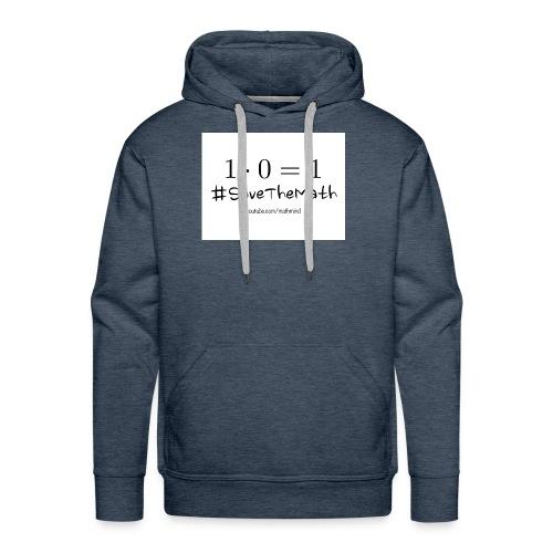 #SaveTheMath_1 - Felpa con cappuccio premium da uomo