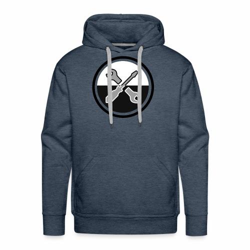 noir & gris - Sweat-shirt à capuche Premium pour hommes