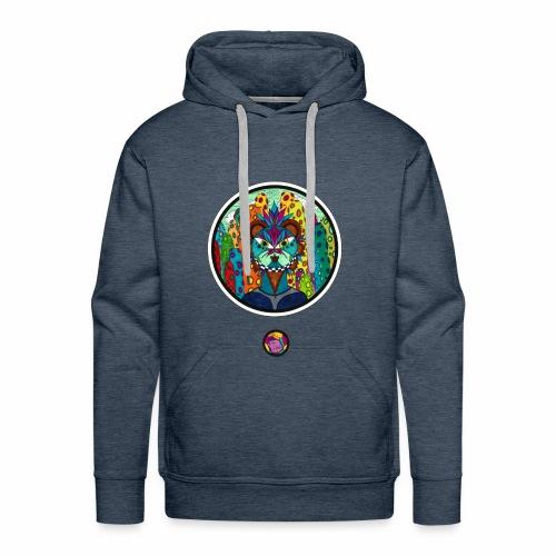 Le chat des colonnes bulleuses - Sweat-shirt à capuche Premium pour hommes