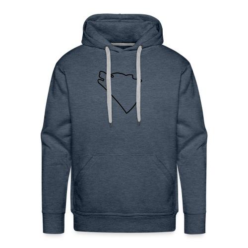 Wolf baul logo - Mannen Premium hoodie