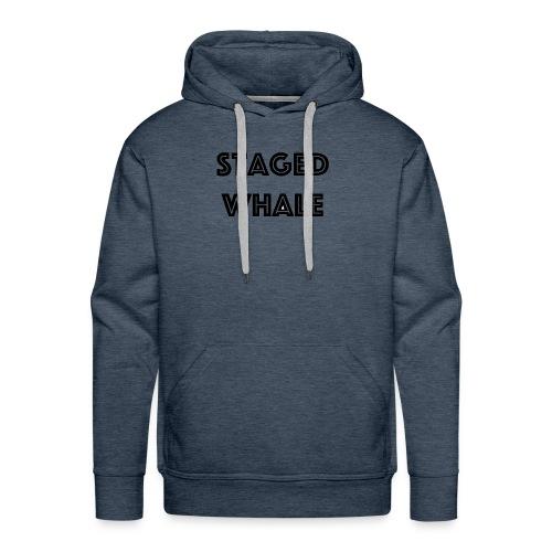 Staged Whale - Mannen Premium hoodie
