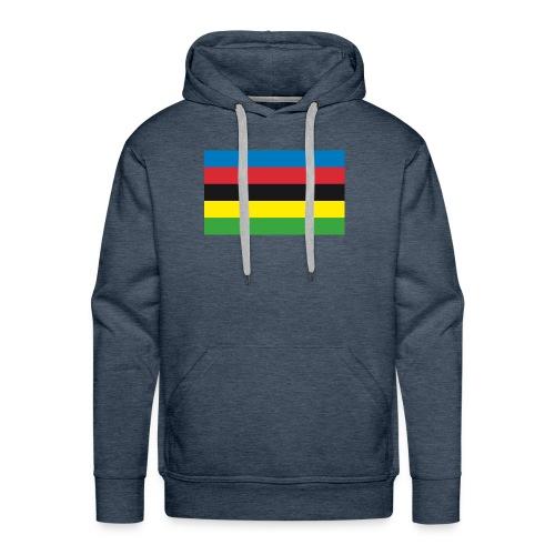 Cycling_World_Champion_Rainbow_Stripes-png - Mannen Premium hoodie