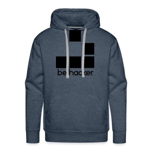 be_hacker-png - Felpa con cappuccio premium da uomo