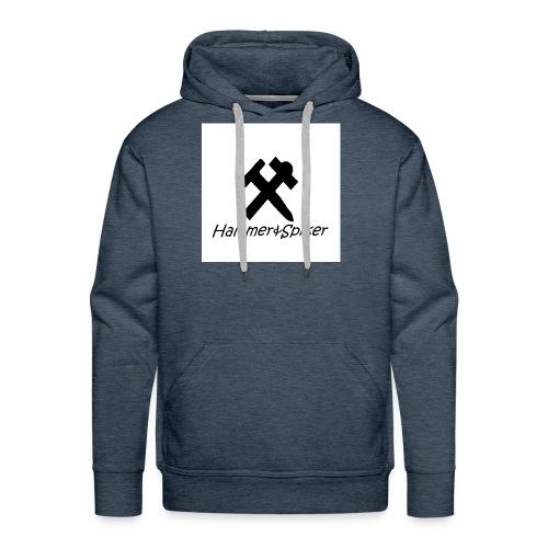 hammer og spiker logo v.1 - Premium hettegenser for menn