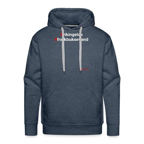 Hashtag - Herre Premium hættetrøje