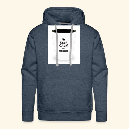 Shot Glass with inscriptions Keep Calm & Brexit - Men's Premium Hoodie
