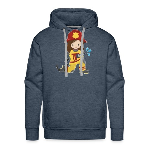 Feuerwehrfrau - Männer Premium Hoodie