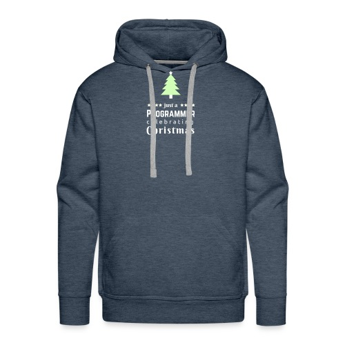 Funny Christmas t shirt for the progrmmers - Men's Premium Hoodie