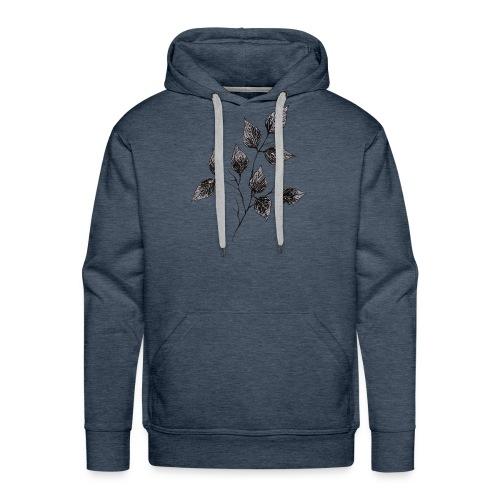 Leaves - Bluza męska Premium z kapturem