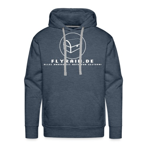 flyrain shirt weiss - Männer Premium Hoodie