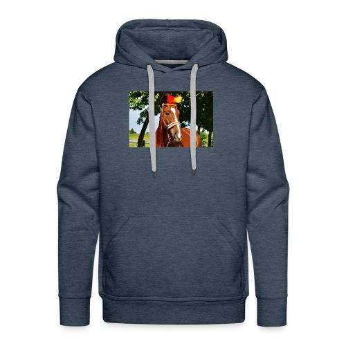 T-Shirt Pferd-Mit Hud - Männer Premium Hoodie