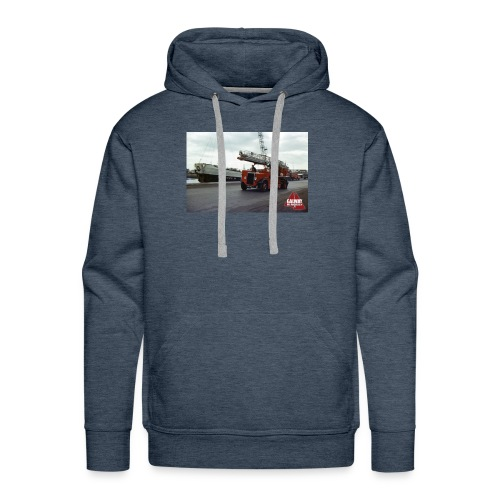 Fire Truck at Galway Docks 1970 - Men's Premium Hoodie