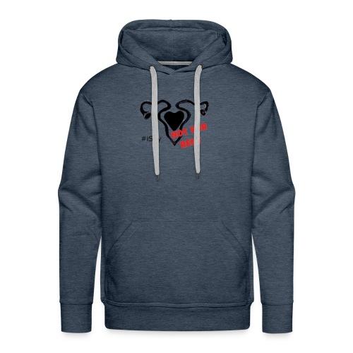 #iSay tshirt-notforrent-png - Felpa con cappuccio premium da uomo