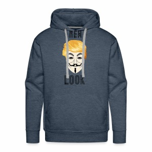 New Look Transparent /Anonymous Trump - Felpa con cappuccio premium da uomo