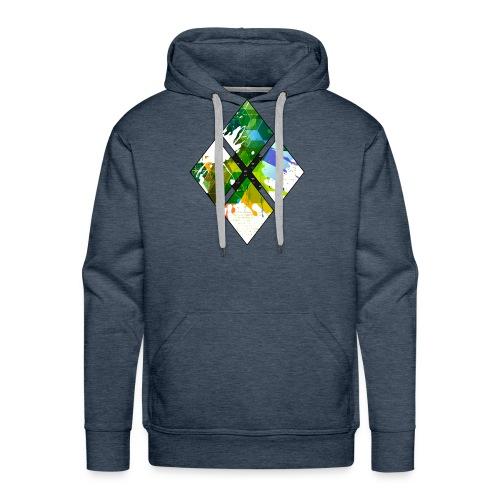 4-Diamanten-Grün - Männer Premium Hoodie