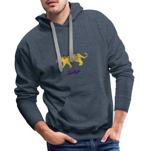Jaguar et Améthyste - Sweat-shirt à capuche Premium pour hommes