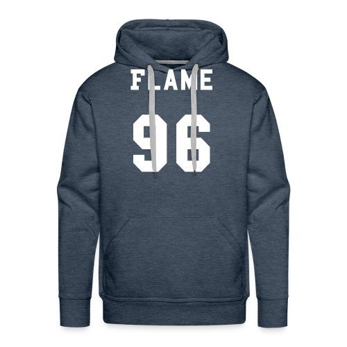 maglietta_flame_96 - Felpa con cappuccio premium da uomo