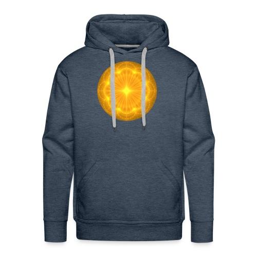 Golden Radiance Mandala Heart - Mannen Premium hoodie