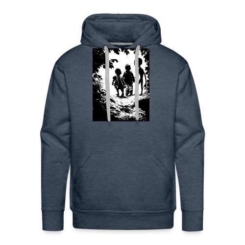 Alien abduction - Felpa con cappuccio premium da uomo