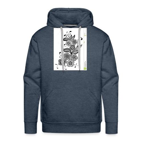 diseño de flores - Sudadera con capucha premium para hombre