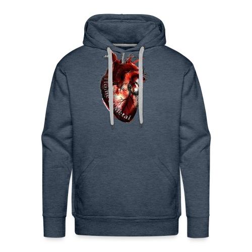 Heart of metal - Felpa con cappuccio premium da uomo