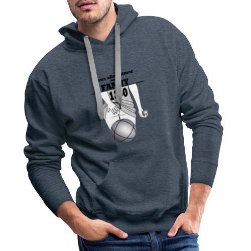 pétanque fanny fond clair - Sweat-shirt à capuche Premium pour hommes