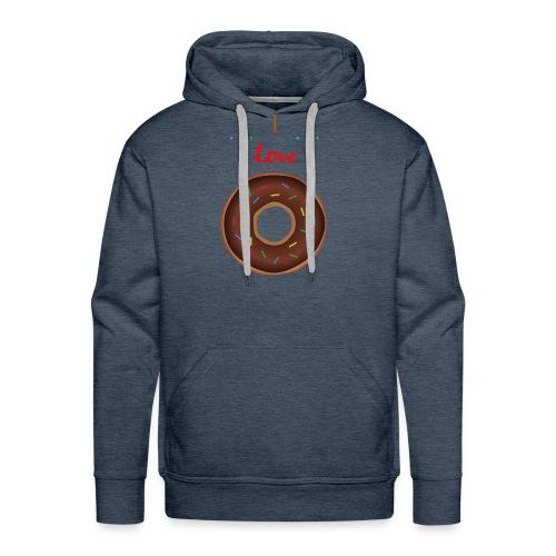 I love donuts! | T-shirt | Tiener / Man - Mannen Premium hoodie