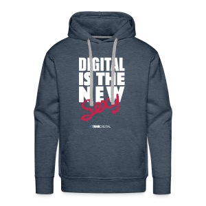 DIGITAL is the New Sexy - Felpa con cappuccio premium da uomo