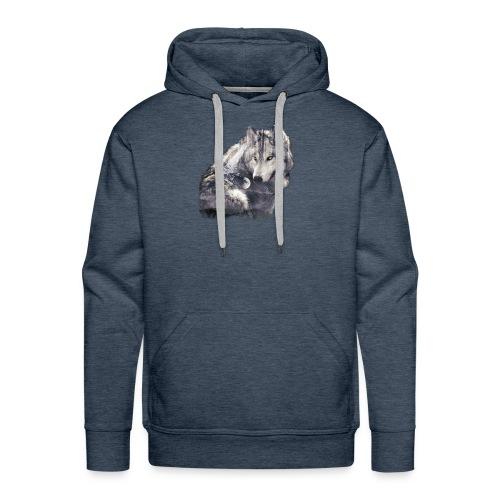 wolf and forest - Sudadera con capucha premium para hombre