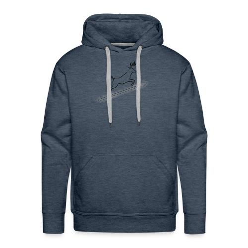 DeerSpear White - Sweat-shirt à capuche Premium pour hommes