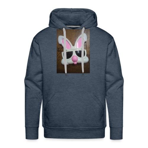 Konijnen bril - Mannen Premium hoodie