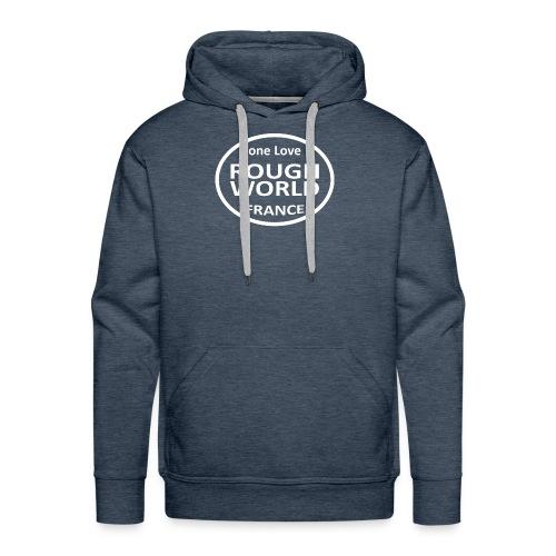 RWB ONE LOVE blanc - Sweat-shirt à capuche Premium pour hommes