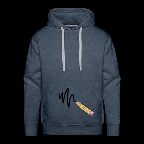 CRAYON - Sweat-shirt à capuche Premium pour hommes
