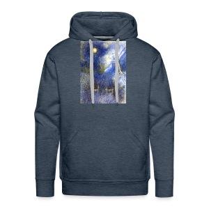 In Night On Meadow - Bluza męska Premium z kapturem