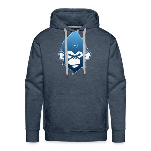 monkeyZ degrade bleu - Sweat-shirt à capuche Premium pour hommes