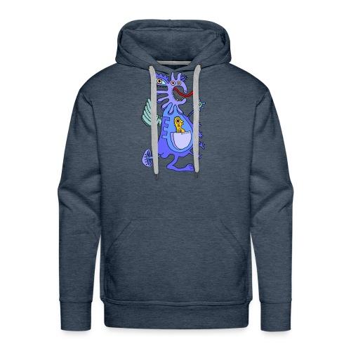 Blue Dragon - Felpa con cappuccio premium da uomo