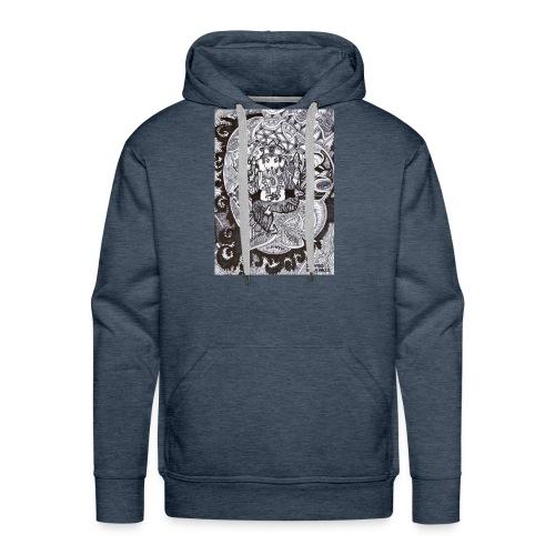 Psychedelic Ganesha - Felpa con cappuccio premium da uomo