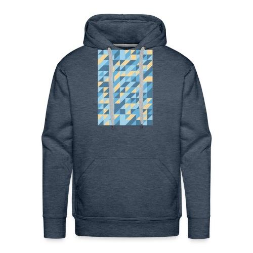 Triangle Design - Felpa con cappuccio premium da uomo