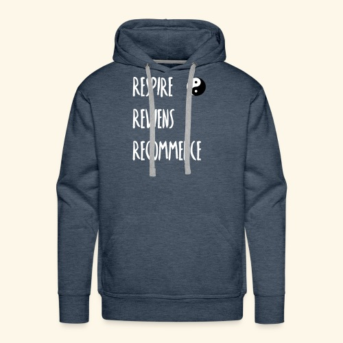 La respiration : l'essence de la vie - Sweat-shirt à capuche Premium pour hommes