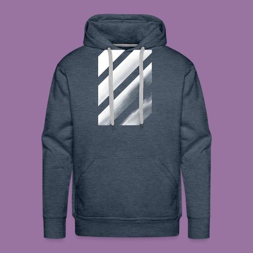 Stripes Diagonal White - Felpa con cappuccio premium da uomo