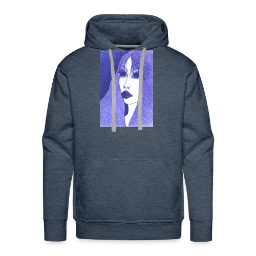 Blue - Bluza męska Premium z kapturem