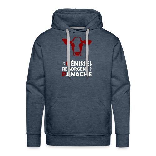 White & red Panache - Sweat-shirt à capuche Premium pour hommes
